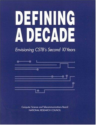 Defining a Decade by National Research Council.