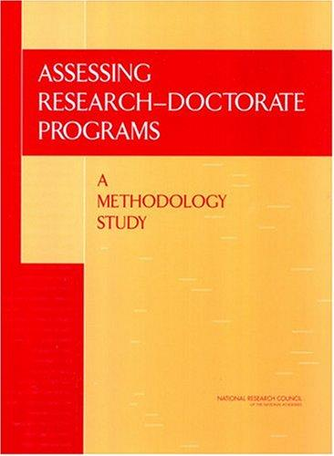 Assessing Research-Doctorate Programs by National Research Council.