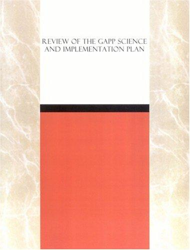 Review of the GAPP Science and Implementation Plan by National Research Council.