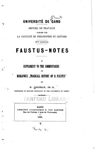 Faustus notes by Henri Logeman