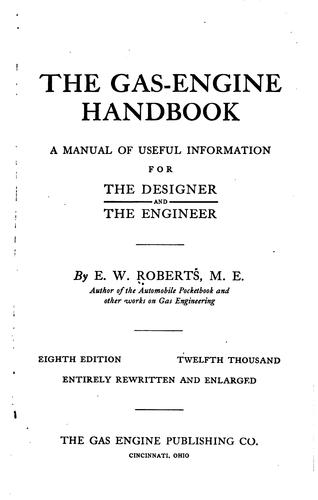 The gas-engine handbook by Edmund Willson Roberts