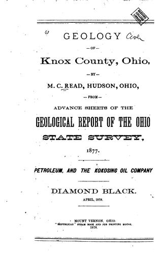 Geology of Knox County, Ohio by Matthew Canfield Read