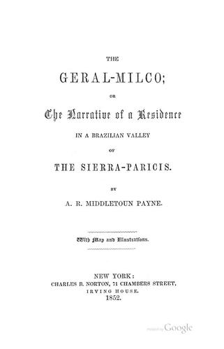 The Geral-Milco by A. R. Middletoun Payne