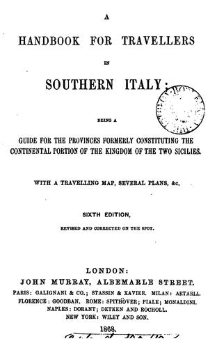Handbook for travellers in Southern Italy by John Murray (Firm)