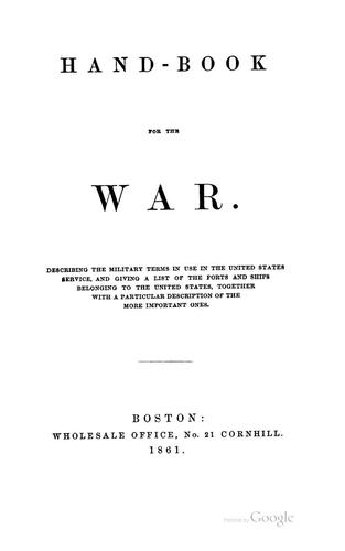 Hand-book for the war by Gihon