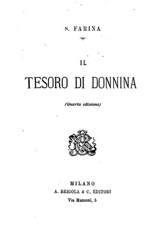 Il tesoro di donnina by Salvatore Farina