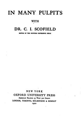 In many pulpits by C. I. Scofield