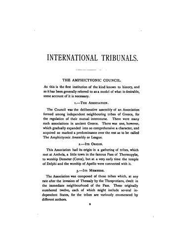 International arbitration by William Evans Darby