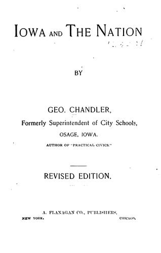 Iowa and the nation by George Chandler