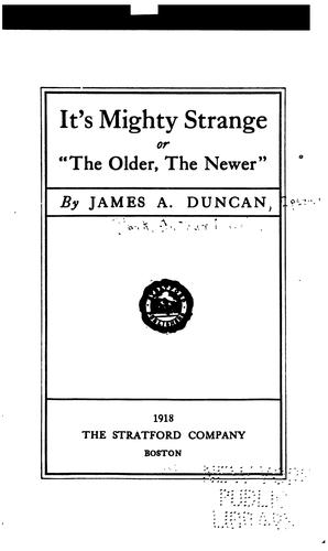 It's mighty strange by Arthur March Clark