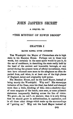 John Jasper's secret by Henry Morford