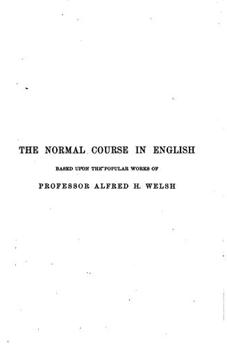 Studies in English grammar by Alfred Hix Welsh