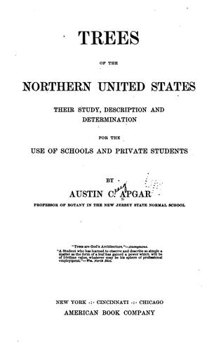 Trees of northern United States: their study, description and determination, for the use of schools and private students by Austin Craig Apgar
