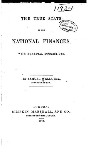 The true state of the national finances by Samuel Wells