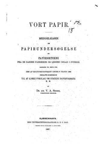 Vort papir by Vilhelm Adolf Secher