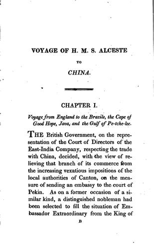 Voyage of His Majesty's ship Alceste, along the coast of Corea by McLeod, John
