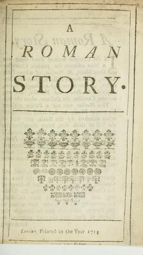 A Roman story by Sir Richard Steele