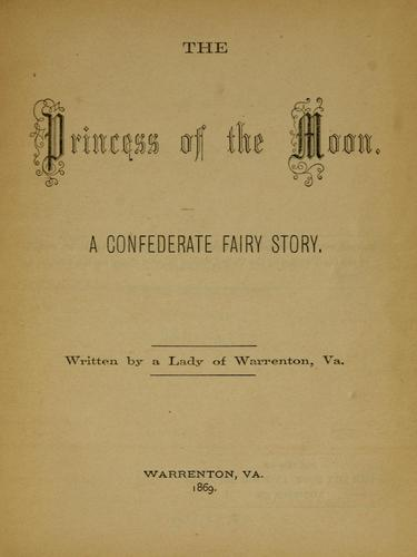 The princess of the moon by Cora Semmes Ives