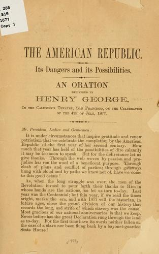 The American republic by George, Henry