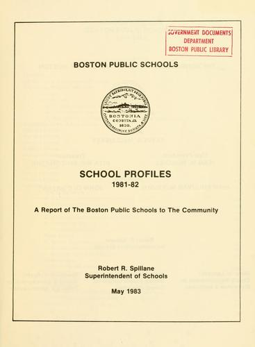 School profiles.
